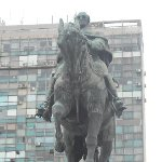 Statue of Jose Gervasio Artigas in Montevideo, Uruguay