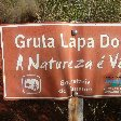 Gruta Lapa Doce park sign in Lencois