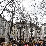 Square Onze-Lieve-Vrouwe-Plein in Maastricht, Holland