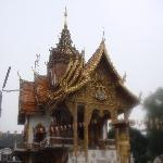 Temple in teak Lanna style at Wat Bupparam, Chiang Mai
