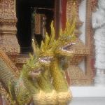 Decorated dragon statues at Wat Bupparam, Chiang Mai
