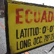 Ecuador latitude and longitude statistics at La Mitad del Mundo
