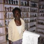 Local rock sculpture art shop in Mamallapuram, India