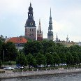 Photos of Riga from the Daugava River, Latvia