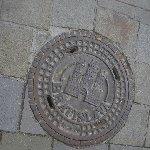 Manhole cover in Bratislava, Slovakia
