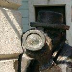 Bratislava Slovakia The Paparazzi sculpture in Bratislava