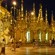 Shwedagon pagoda in Yangon by night, Yangon Myanmar