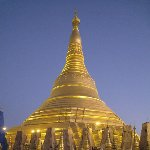 Yangon Myanmar The golden stupa of the Shwedagon pagoda in Yangon