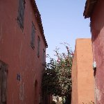 The narrow streets on Ile de Goree, Ile de Goree Senegal