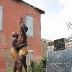 Ile de Goree Senegal Memorial Statue of the liberation of slavery, Il de Goree