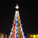Christmas tree on Republic Square in Yerevan, Armenia