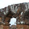 The arches of the Trinidad Ruins in Paraguay