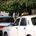 Taxi's in the centre of Baku, Azerbaijan