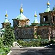 Pictures of the Russian Orthodox Church nof Karakol, Kyrgyzstan