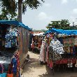 Pictures on the market in Marigot, Saint Martin