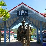 Philipsburg Netherlands Antilles Statue in Simpson Bay, Sint Maarten
