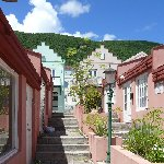 The houses in Philipsburg, St Maarten, Netherland Antilles