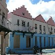 Caribbean houses in Philipsburg, Netherland Antilles