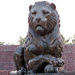 Lion sculptures at the Monument of Ismail Samani in Dushanbe, Tajikistan, Dushanbe Tajikistan