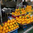 Tajik lemons and oranges on the market