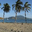The beach in Saint Kitts and Nevis