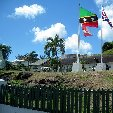 Flags on the island of Saint Kitts and Nevis,