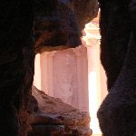 The great temple of Petra Jordan Diary Information