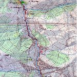 Annapurna circuit trek map Nepal Photograph