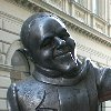 Bronze sculpture of Schoener Naci, Beautiful Naci in Bratislava Slovakia Europe